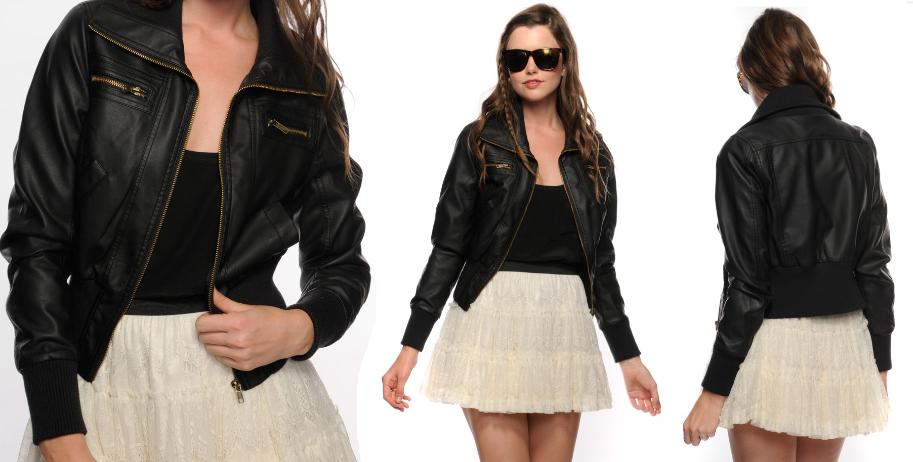 Black Leather Forever 21
