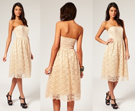 Prom Dress Sites on Butter Milk Lace Long Prom Dress     65 00   52 00     Asos Com