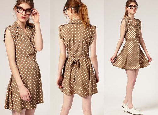 95e0ae9d1ce2 A more casual version of the brown polka dot ...