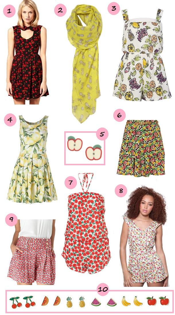 Lemon Print Prom Dress £29.99