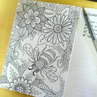 DOODLE: When it's quiet at work, this happens to my notebook...